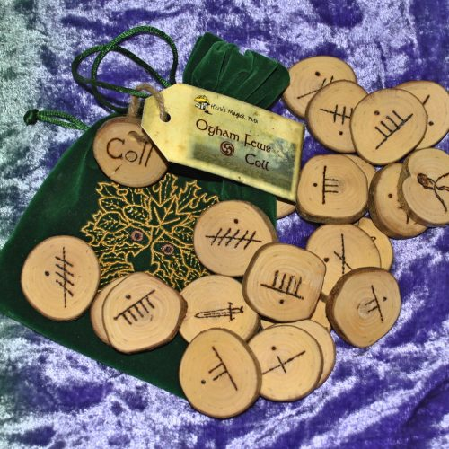 Group of Ogham runes made from Coll (Hazel)
