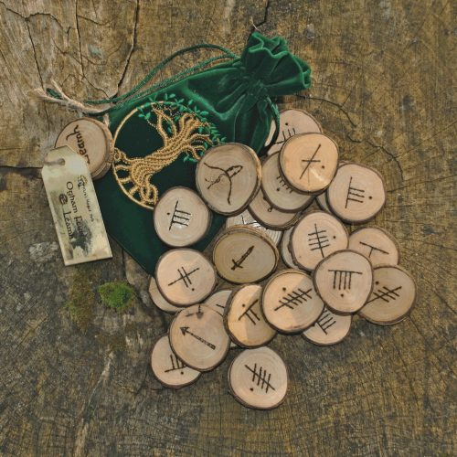 Ogham rune set with bag