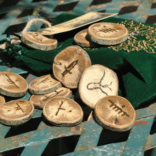 image of pile of Duir Celtic runes